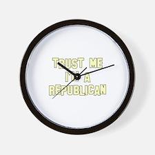 Trust Me I'm a Republican Wall Clock