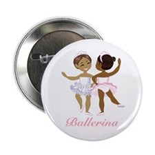 """Ballerina (black) 2.25"""" Button"""