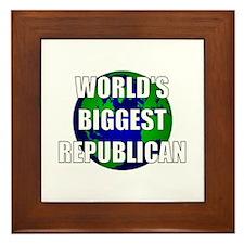 World's Biggest Republican Framed Tile