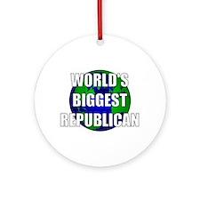 World's Biggest Republican Ornament (Round)