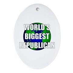World's Biggest Republican Oval Ornament