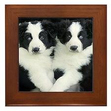 The Twins Framed Tile