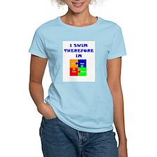 I swim therefore IM Women's Pink T-Shirt