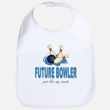 Future Bowler Like Auntie Baby Infant Toddler Bib