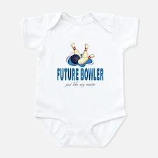 Future Bowler Like Auntie Baby Infant Bodysuit