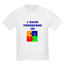 I swim therefore IM Kids T-Shirt