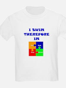 I swim therefore IM Kids T-Shirt