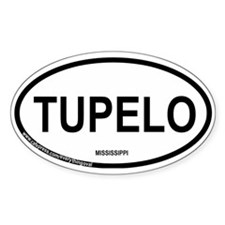 Tupelo Oval Decal