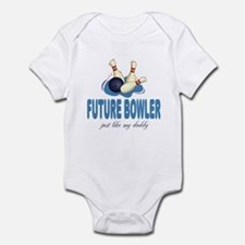 Future Bowler Like Daddy Baby Onesie