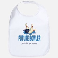 Future Bowler Like Mommy Baby Infant Toddler Bib