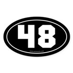 #48 Euro Bumper Oval Sticker -Black