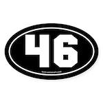 #46 Euro Bumper Oval Sticker -Black