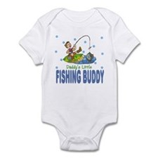 Daddy's Little Fishing Buddy Baby Infant Bodysuit