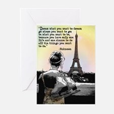 Paris Skating Greeting Cards