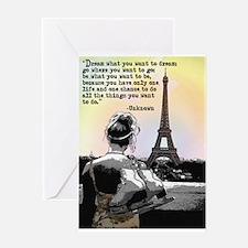 Paris Skating Greeting Cards