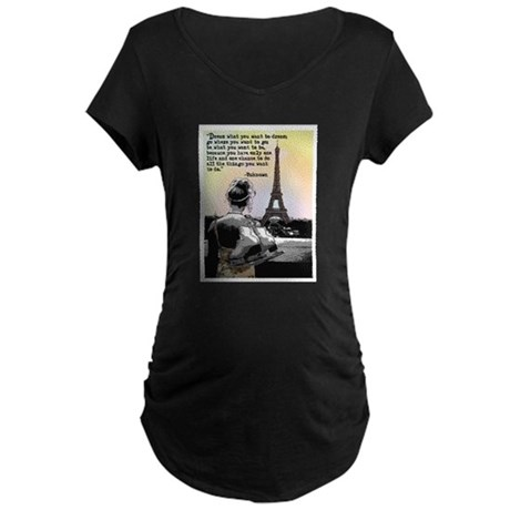 Paris Skating Maternity T-Shirt