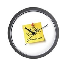 Working Can Wait Wall Clock
