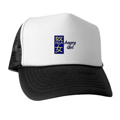 Angry Girl Trucker Hat