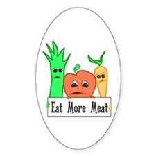 Eat More Meat Oval Decal