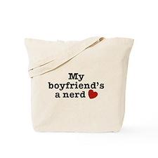My Boyfriend's a Nerd Tote Bag