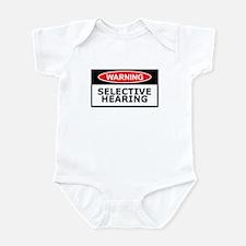 Funny hearing slogan Infant Bodysuit