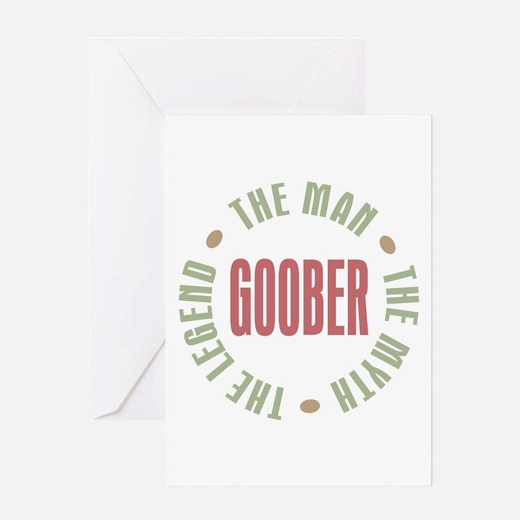 Goober Man Myth Legend Greeting Card