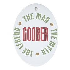 Goober Man Myth Legend Oval Ornament