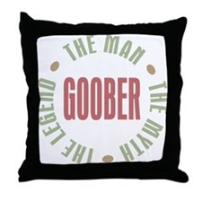 Goober Man Myth Legend Throw Pillow