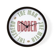 Goober Man Myth Legend Wall Clock