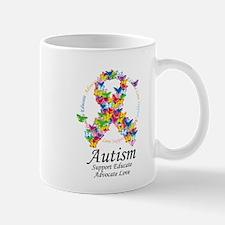Autism Butterfly Ribbon Mug