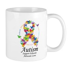 Autism Butterfly Ribbon Mug