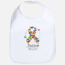 Autism Butterfly Ribbon Bib