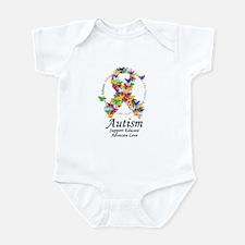 Autism Butterfly Ribbon Infant Bodysuit