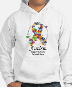 Autism Butterfly Ribbon Jumper Hoody