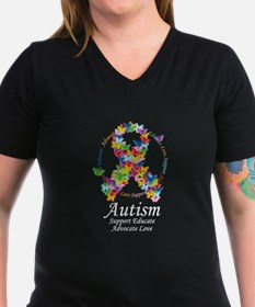 Autism Butterfly Ribbon Shirt