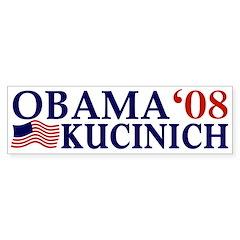 Obama-Kucinich '08 bumper sticker