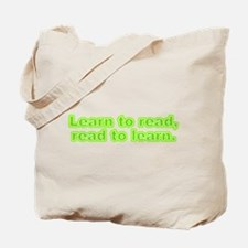 Learn and Read Tote Bag