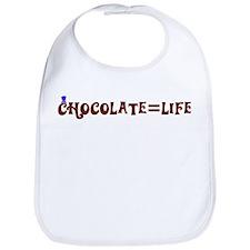 Chocolate=Life Bib