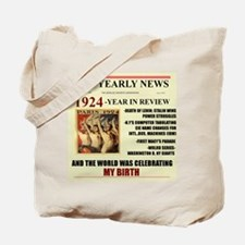 Born In 1924 Birthday Gift Tote Bag