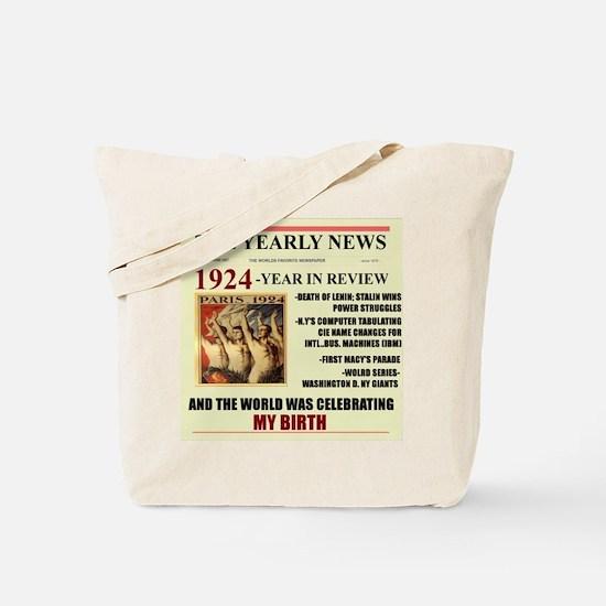 Born In 1924 Birthday Gift Tote Bag