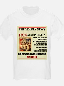 born in 1924 birthday gift T-Shirt