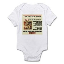 born in 1924 birthday gift Infant Bodysuit
