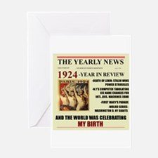born in 1924 birthday gift Greeting Card