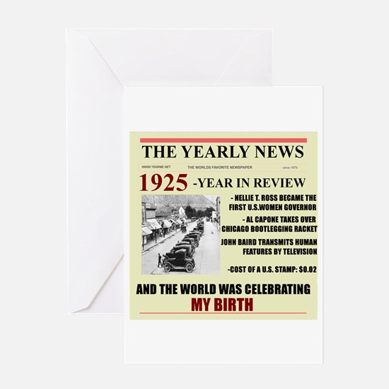 Born In 1925 Birthday Gift Card Greeting Cards