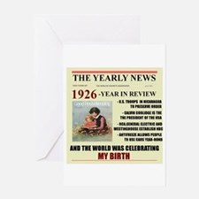 born in 1926 birthday gift Greeting Card