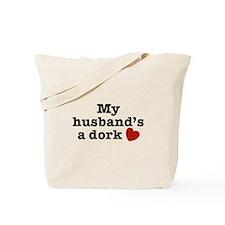 My Husband's a Dork Tote Bag