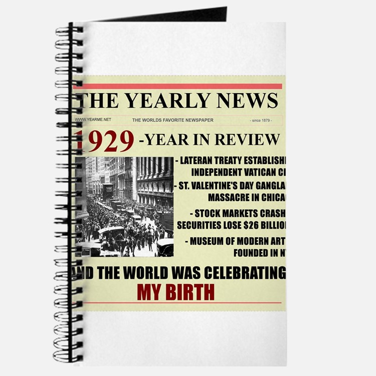 born in 1929 birthday gift Journal