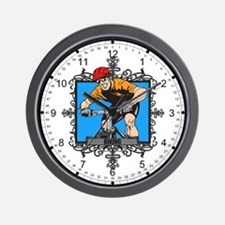 Aggressive Biking Wall Clock