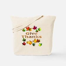 Give Thanks Tote Bag