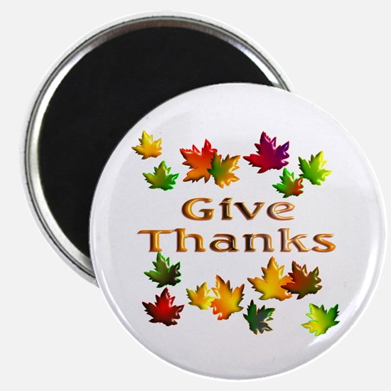 """Give Thanks 2.25"""" Magnet (10 pack)"""